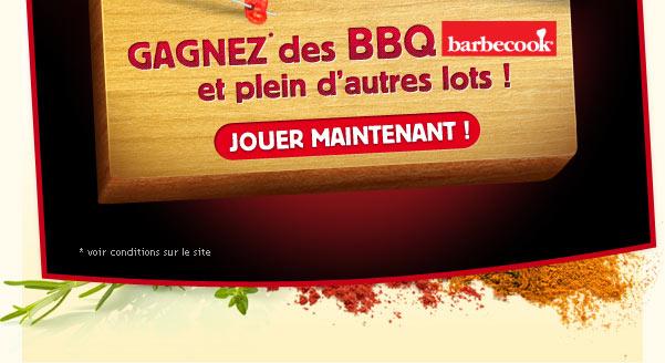 Gagnez des BBQ Barbecook et plein d'autre lots !